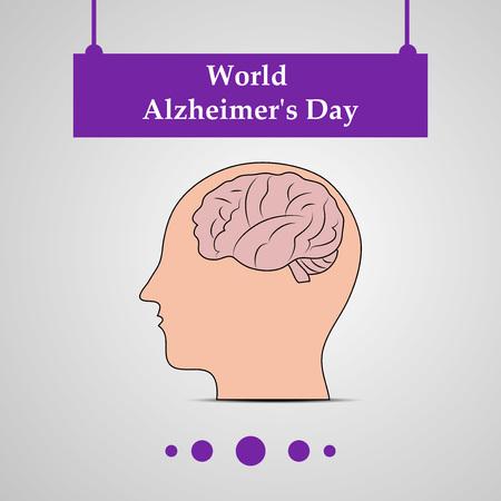 illustration of elements of World Alzheimer's Day Background Illustration