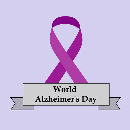 illustration of elements of World Alzheimers Day Background