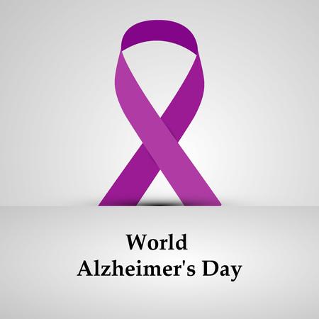 illustratie van elementen van Wereld Alzheimer Dag Achtergrond