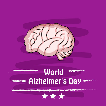 illustration of elements of World Alzheimer's Day Background Illustration