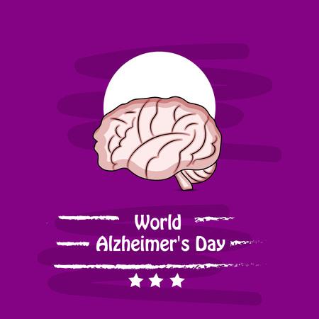 illustration of elements of World Alzheimer's Day Background Stock fotó - 108196081