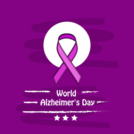 illustration of elements of World Alzheimer's Day Background Stock fotó - 108196082