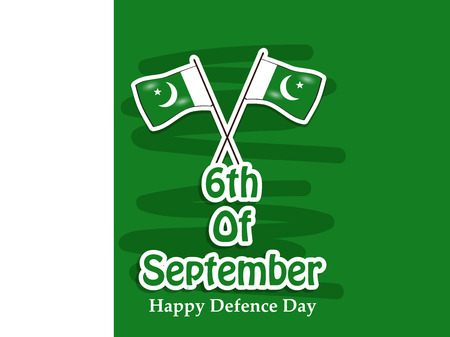 Illustration of Pakistan Defence Day background Stock fotó - 108196094