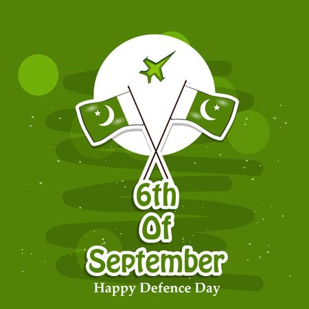 Illustration of Pakistan Defence Day background Stock fotó - 108196097
