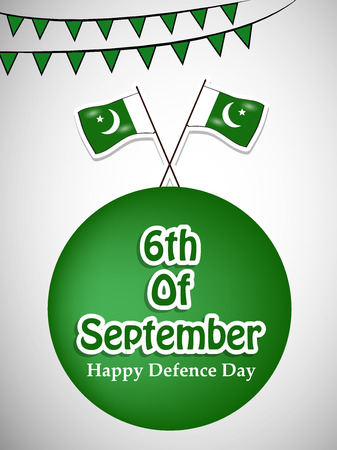 Illustration of Pakistan Defence Day background Stock fotó - 108196101