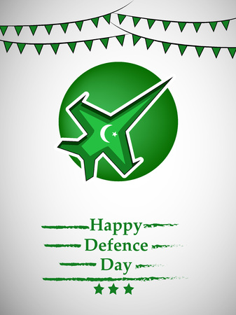 Illustration of Pakistan Defence Day background Stock fotó - 108196188