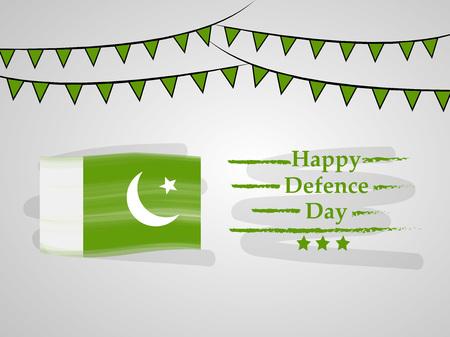 Illustration of Pakistan Defence Day background Stock fotó - 108196189