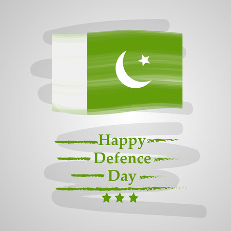 Illustration of Pakistan Defence Day background