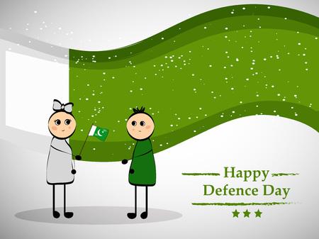 Illustration of Pakistan Defence Day background