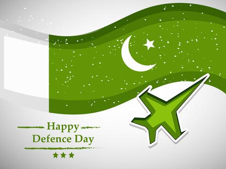 Illustration of Pakistan Defence Day background Vetores