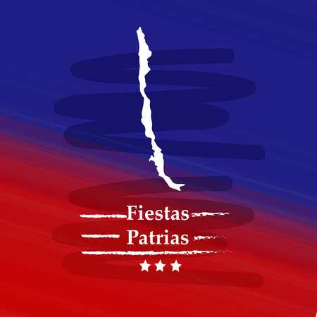 illustration of elements of Chile's National Independence Day Fiestas Patrias background 矢量图像