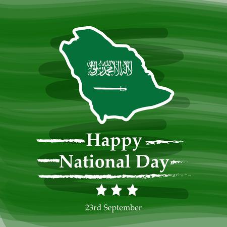Illustration of Saudi Arabia National Day background