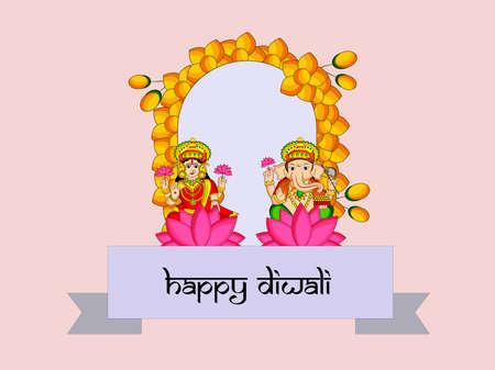 illustration of elements of hindu festival Diwali background