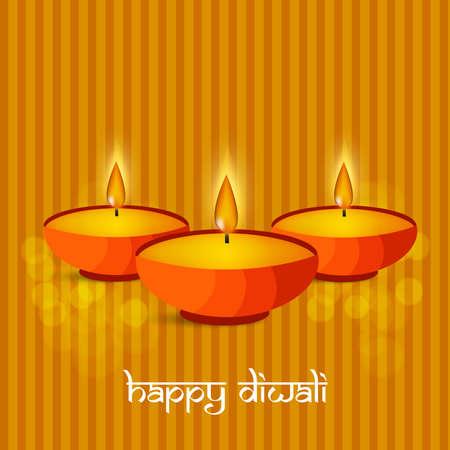 illustration of elements of hindu festival Diwali background 矢量图像