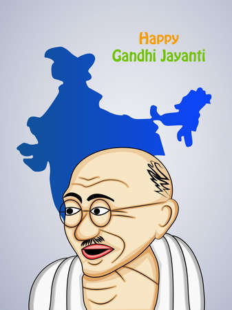 illustration of elements of Gandhi Jayanti Background