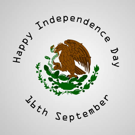 illustration of elements of Mexico Independence Day Background 矢量图像