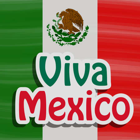 illustration of elements of Mexico Independence Day Background Stock Illustratie