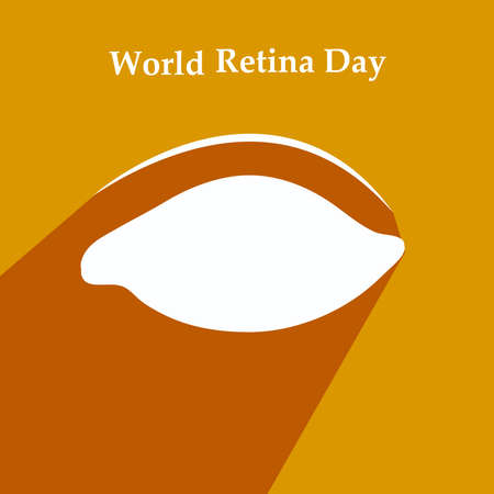 illustration of elements of World Retina Day Background