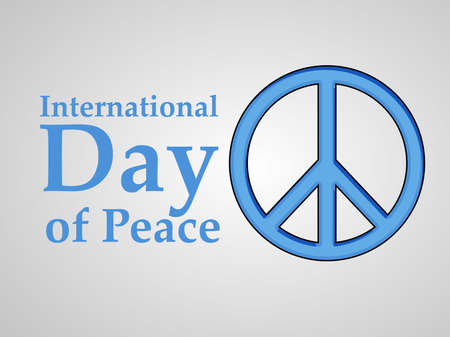 illustration of elements of World Peace Day Background