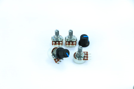 variable: Variable resistor on a white background.