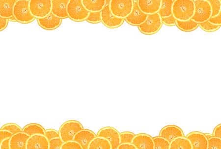 sliced orange: sliced orange on a white background