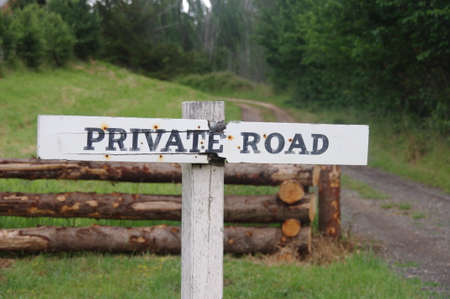 Private Road Sign in    photo
