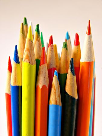 Bright Colorful, Colored pencils, sharp and ready to use Stock Photo - 888512