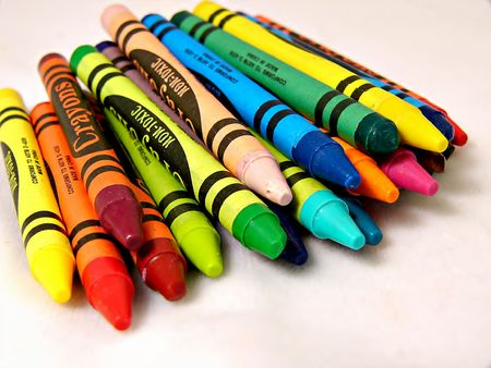 nontoxic: Colorful Crayons Stock Photo