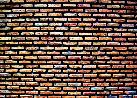 Groove Brick Wall Stock Photo - 16522305