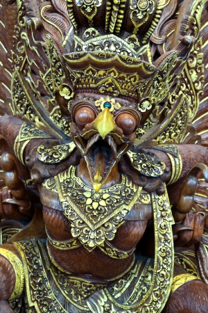 Symbal of Indonesia, Garuda  This wood craft show the entity and verbal act of Garuda explicitly  photo