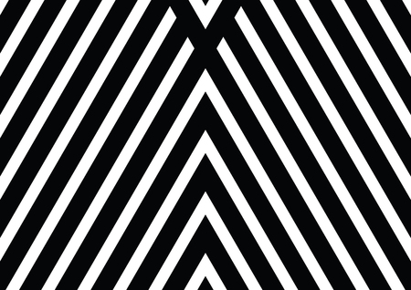 Vector seamless pattern. Decorative ornament, figurative design template with striped black white triangles.