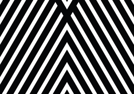vibrating: Vector seamless pattern. Decorative ornament, figurative design template with striped black white triangles.