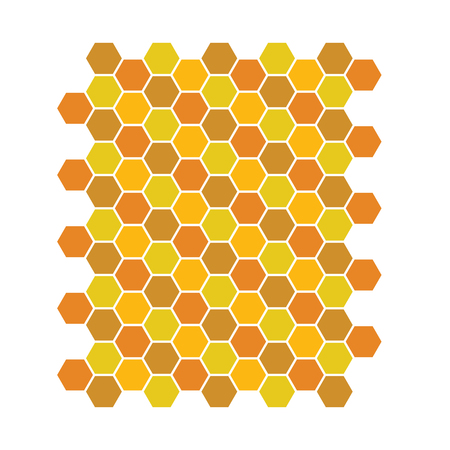 Bee honeycomb pattern, Vector backgrounds, honey texture