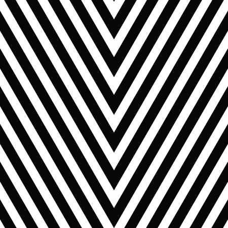 vibrating: Decorative ornament, figurative design template with striped black white triangles. Background, texture with optical illusion effect.
