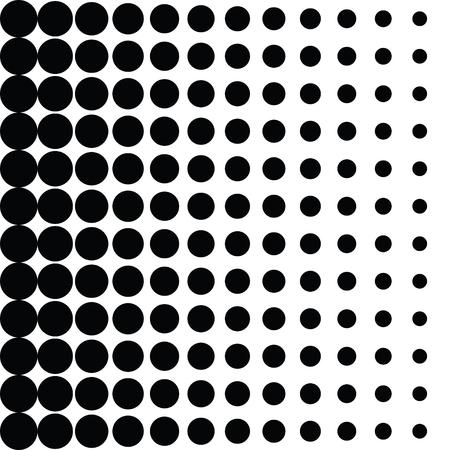 ベクトル ハーフトーン ドット。白い背景に黒い点。