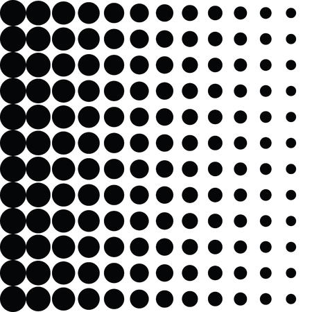 벡터 하프 톤 도트입니다. 흰색 배경에 검은 점들. 일러스트