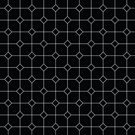 checker: Vintage black and white tiles vector pattern or background illustration.