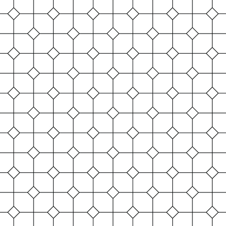 Vintage black and white tiles vector pattern or background