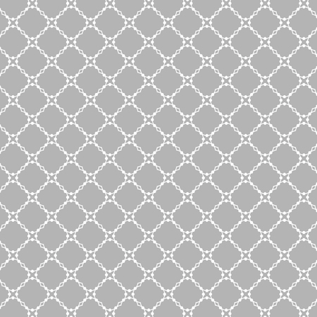 four leaved: Lattice pattern with trendy lattice on a gray background. Repeating pattern background. Modern stylish texture. Repeating geometric tiles. Illustration