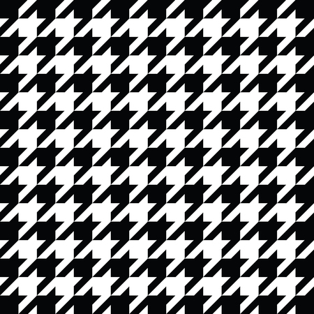 white coat: Black and white houndstooth pattern vector. Classical checkered textile design. Illustration