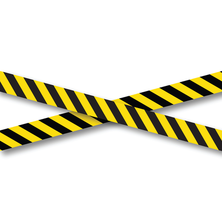 Yellow and black danger ribbons.