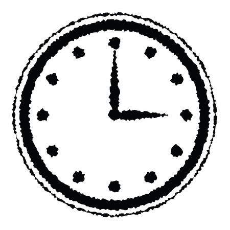 Time icon. Clock vector icon for web. Time with minutes illustration