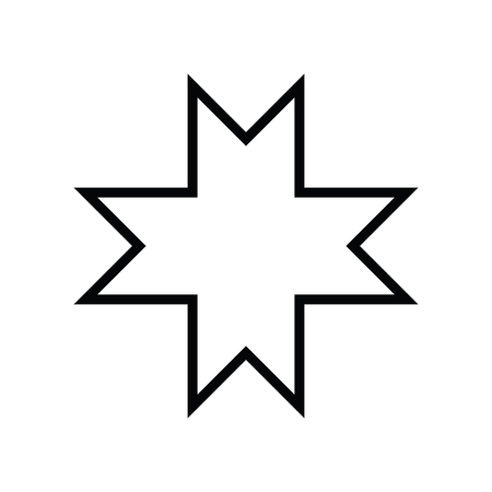 Islamic Art style. Eight-pointed star symbol for design