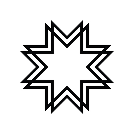 An Islamic Art style on Eight-pointed star symbol for design