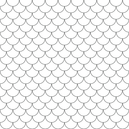 Geometric fish scales chinese seamless Flat pattern Vector illustration