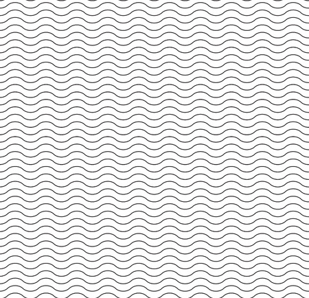 Waves lines seamless vector pattern for wallpaper, wrapping paper, background, surface texture and fill, card, templates.