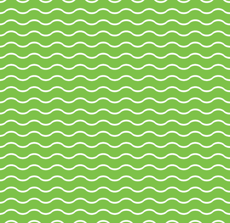 Waves lines seamless vector pattern. Design elements for wallpaper, wrapping paper. Green background, surface texture and fill, card, templates.