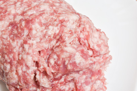 Fresh raw minced beef and pork mixed meat Stock Photo