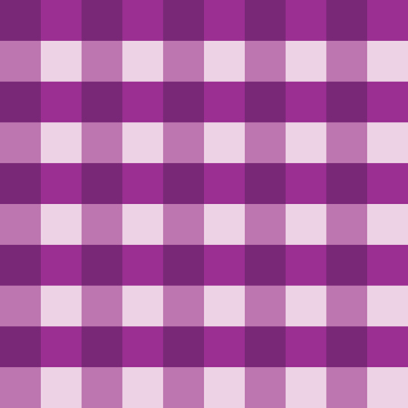 Purple gingham seamless vector background pattern design. Texture from rhombus or squares for plaid, tablecloths, clothes, shirts, dresses, paper and other textile products.