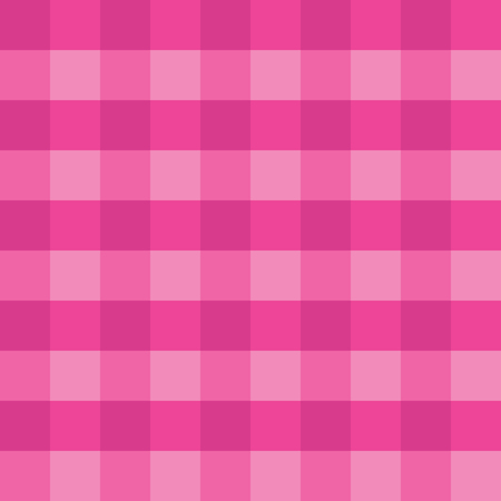 Pink gingham seamless vector background pattern design. Texture from rhombus or squares for plaid, tablecloths, clothes, shirts, dresses, paper and other textile products. Stock Illustratie